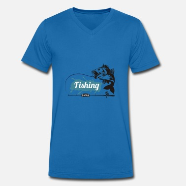 Clubs Fishing Club - Men's Organic V-Neck T-Shirt by Stanley & Stella