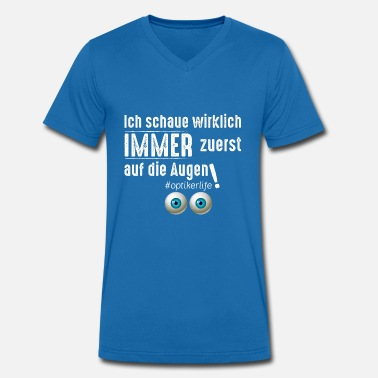 Opticien opticien - Mannen bio T-shirt met V-hals van Stanley & Stella
