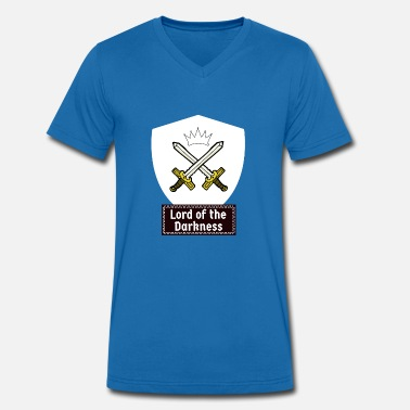 Orders Of Chivalry Knights of the dark! Medieval knightly orders - Men's Organic V-Neck T-Shirt by Stanley & Stella