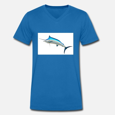 Marlin blue marlin - Men's Organic V-Neck T-Shirt by Stanley & Stella