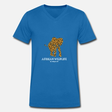 Wildlife Elephant African Wildlife - Elephant - Men's Organic V-Neck T-Shirt by Stanley & Stella