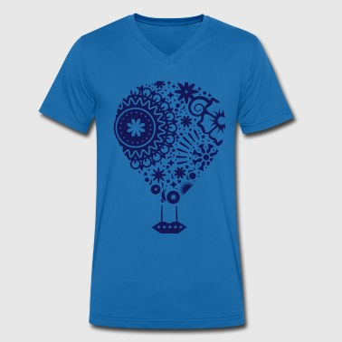 A hot air balloon - Men's Organic V-Neck T-Shirt by Stanley & Stella