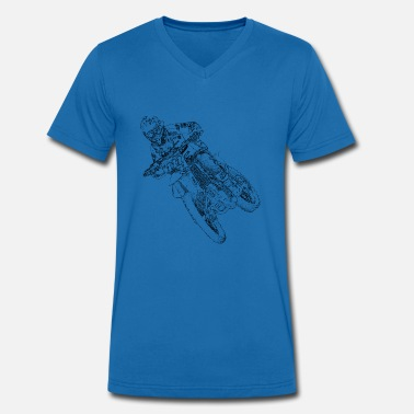 Enduro Riders Motocross rider - Men's Organic V-Neck T-Shirt by Stanley & Stella
