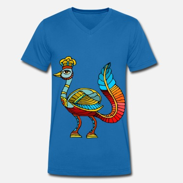 Archie Archi the fantastic bird - Men's Organic V-Neck T-Shirt by Stanley & Stella