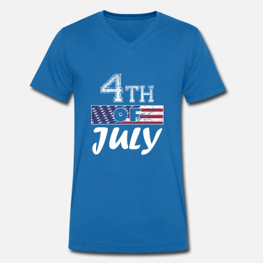 Independence Day Patriot Independence Day 4th of July US Flag Patriots - Men's Organic V-Neck T-Shirt by Stanley & Stella