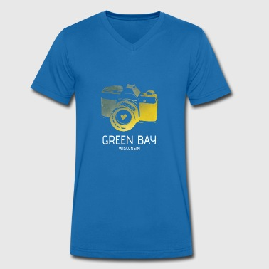 Packers De Green Bay Caméra Green Bay avec le coeur - T-shirt bio col V Stanley & Stella Homme