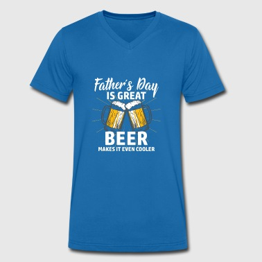 Papa Shirt · Parents · Father's Day · Beer geiler - Men's Organic V-Neck T-Shirt by Stanley & Stella