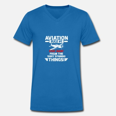 Rule No 1 Aviation Rule 1 - Men's Organic V-Neck T-Shirt by Stanley & Stella