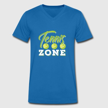 Zone Tennis Zone - Men's Organic V-Neck T-Shirt by Stanley & Stella