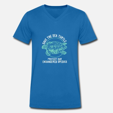 Save Turtles Save the turtles - Men's Organic V-Neck T-Shirt by Stanley & Stella
