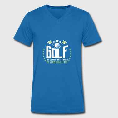 Classy Sports Golf - the classy way to avoid responsibilities - Men's Organic V-Neck T-Shirt by Stanley & Stella
