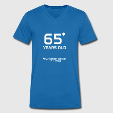 65 Years Old 65 Years Old Margin 1 Year - Men's Organic V-Neck T-Shirt by Stanley & Stella