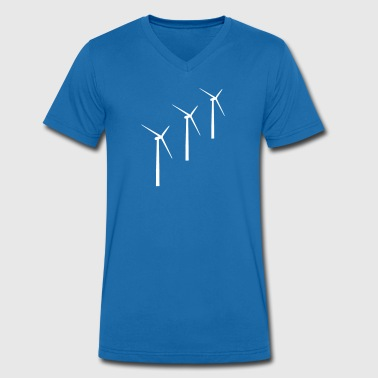 3 wind turbines wind energy - Men's Organic V-Neck T-Shirt by Stanley & Stella