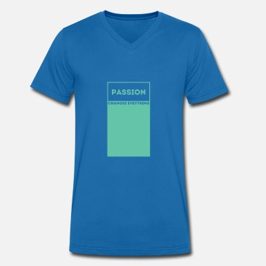 Passion Passion / passion - Men's Organic V-Neck T-Shirt by Stanley & Stella