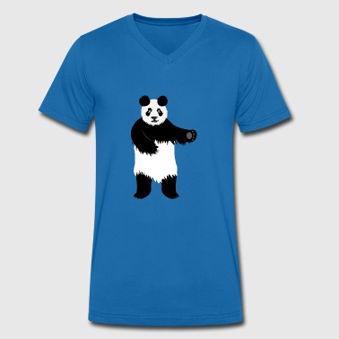 Panda dental silk dance - Men's Organic V-Neck T-Shirt by Stanley & Stella