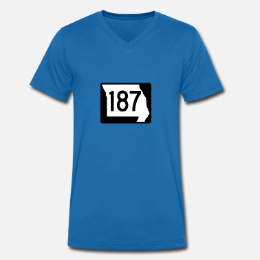 187 Route 187 - Men's Organic V-Neck T-Shirt by Stanley & Stella