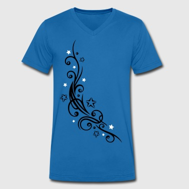 Tribal Tattoo ornament with stars. - Men's Organic V-Neck T-Shirt by Stanley & Stella