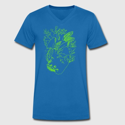 Nature heart - Men's Organic V-Neck T-Shirt by Stanley & Stella