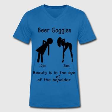 Beer Goggles - Men's Organic V-Neck T-Shirt by Stanley & Stella