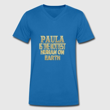 Paula - Men's Organic V-Neck T-Shirt by Stanley & Stella