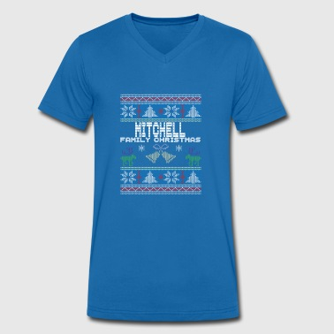 Ugly Mitchell Christmas Family Vacation Tshirt - Men's Organic V-Neck T-Shirt by Stanley & Stella