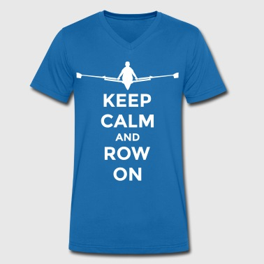 keep calm and row on rudern Verein rowing Boot - T-shirt bio col V Stanley & Stella Homme