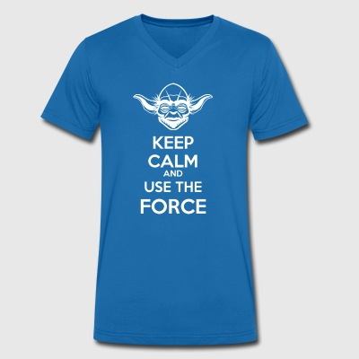 Use The Force Yoda - Men's Organic V-Neck T-Shirt by Stanley & Stella