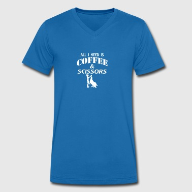 Coffee and scissors - Men's Organic V-Neck T-Shirt by Stanley & Stella