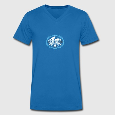 SAALBACH Winter mountains - Men's Organic V-Neck T-Shirt by Stanley & Stella