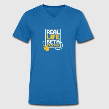 Real Life Beta Testers! - Men's Organic V-Neck T-Shirt by Stanley & Stella