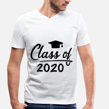 Class Of 2020 School graduation class 2020 gift - Men's Organic V-Neck T-Shirt by Stanley & Stella