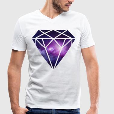 Diamant Diamond - Men's Organic V-Neck T-Shirt by Stanley & Stella