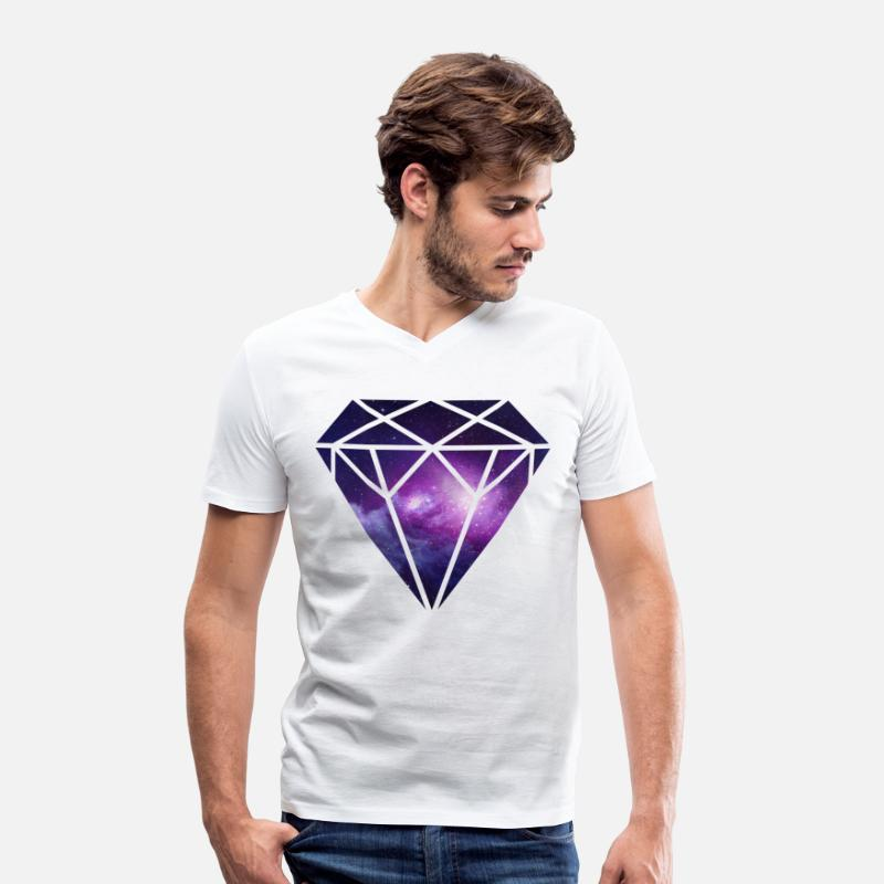 Trippy T-Shirts - Diamant Diamond - Men's V-Neck T-Shirt white