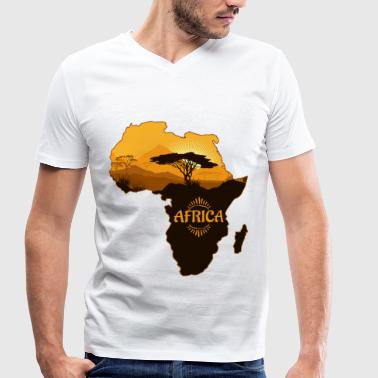Continent Continent africain - T-shirt bio col V Stanley & Stella Homme