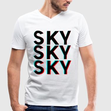 SKY SKY SKY - Men's Organic V-Neck T-Shirt by Stanley & Stella