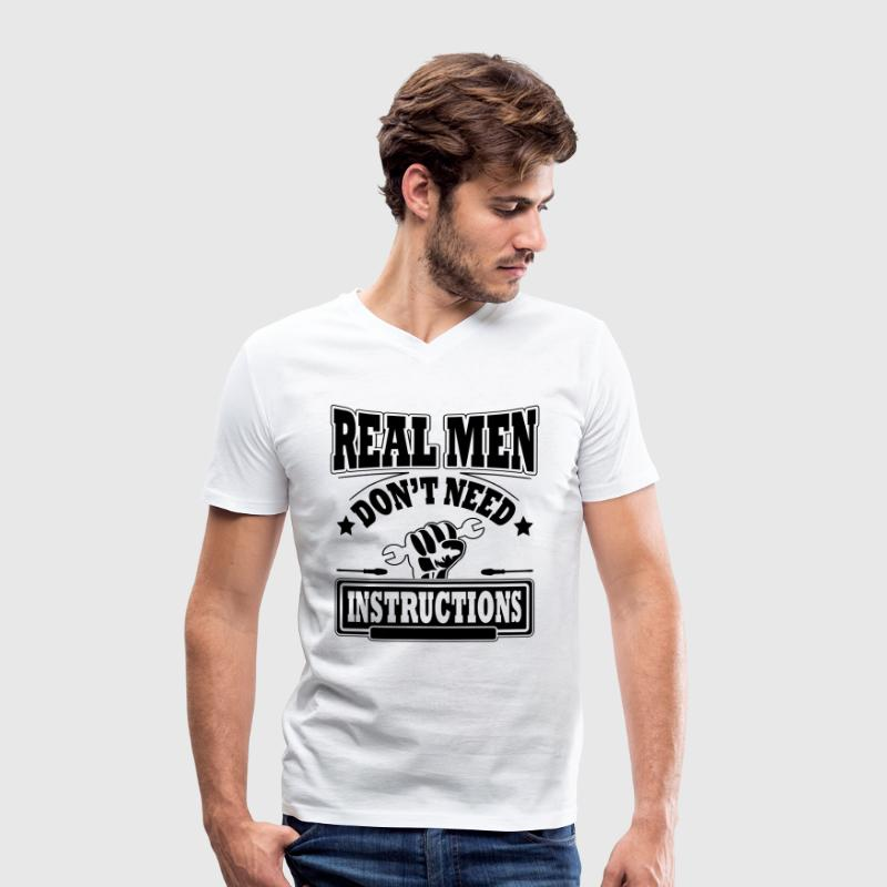 Real men don't need instructions - T-shirt bio col V Stanley & Stella Homme