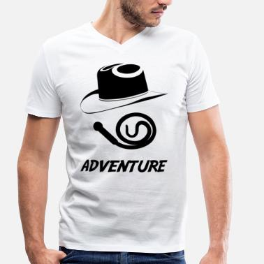 Indiana Jones adventure blak - T-shirt bio col V Stanley & Stella Homme