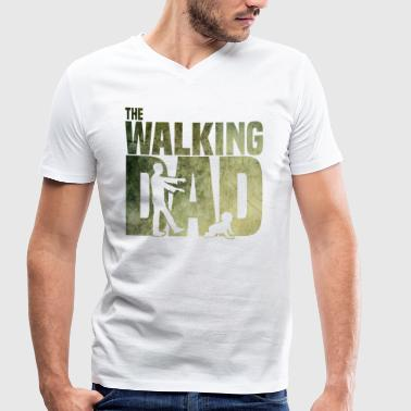 The walking Dad - Zombie - Papa -Humor-Baby-Vater - T-shirt bio col V Stanley & Stella Homme