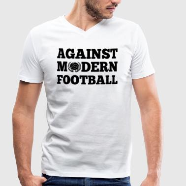 Against Modern Football - Men's Organic V-Neck T-Shirt by Stanley & Stella