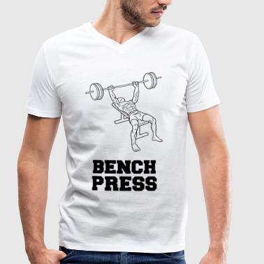 BENCH PRESS - Men's Organic V-Neck T-Shirt by Stanley & Stella