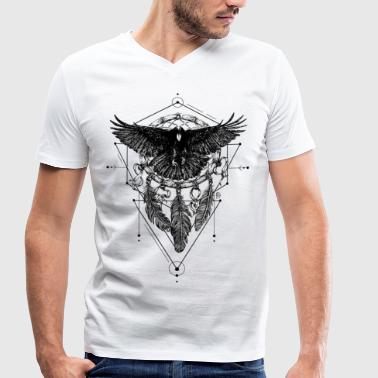 AD Crow - Men's Organic V-Neck T-Shirt by Stanley & Stella