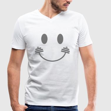 Happy Gym Smiley - T-shirt ecologica da uomo con scollo a V di Stanley & Stella