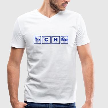 Periodic Table TECHNO PERIODIC TABLE - Mannen bio T-shirt met V-hals van Stanley & Stella