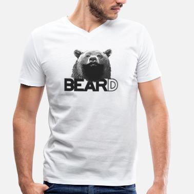 Bear and beard - Men's Organic V-Neck T-Shirt by Stanley & Stella