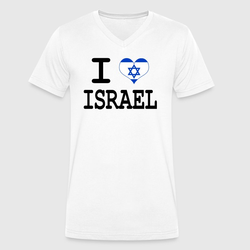 i love Israel - Men's Organic V-Neck T-Shirt by Stanley & Stella