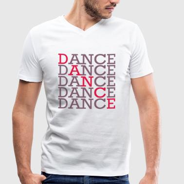 Dancing with two colors - Men's Organic V-Neck T-Shirt by Stanley & Stella