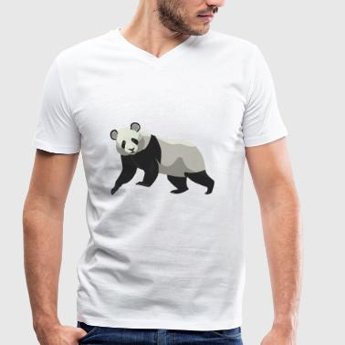Spectacled Bear Panda Panda Bear China Spectacled Gift - Men's Organic V-Neck T-Shirt by Stanley & Stella