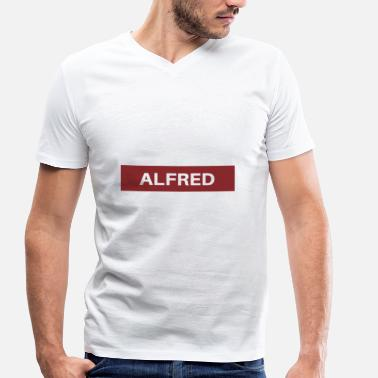 Alfred Alfred - Men's Organic V-Neck T-Shirt by Stanley & Stella