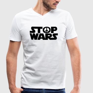 Stop Wars - Men's Organic V-Neck T-Shirt by Stanley & Stella
