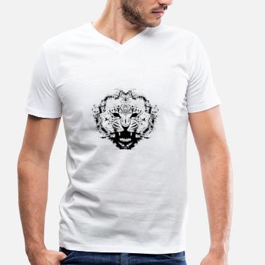 Leopard Design leopard - Men's Organic V-Neck T-Shirt by Stanley & Stella